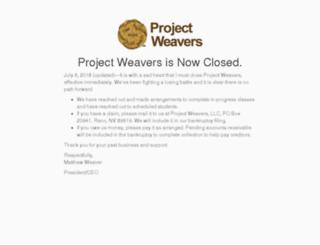 projectweavers.com screenshot