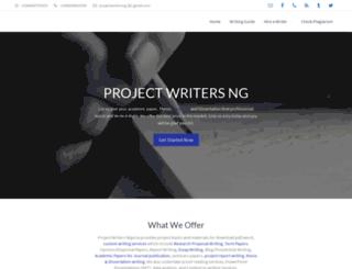 projectwriters.com.ng screenshot
