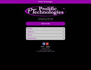 prolifictech.net screenshot