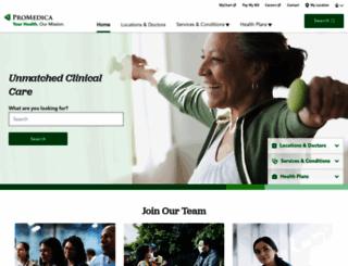 promedica.org screenshot
