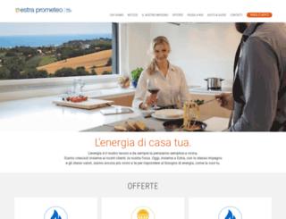 prometeoenergia.it screenshot