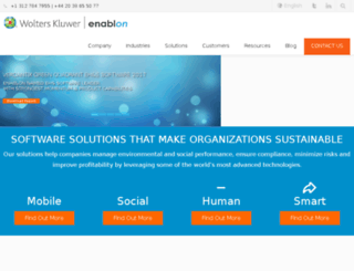 promethee.enablon.com screenshot