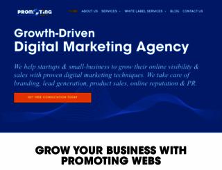 promotingwebs.com screenshot