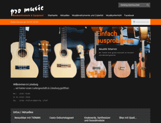 promusic-shop.de screenshot