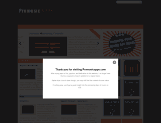 promusicapps.com screenshot
