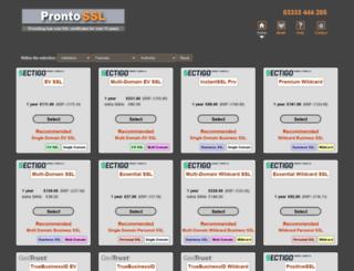 prontossl.com screenshot