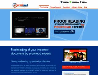 proofreadexpert.com screenshot