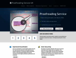 proofreadingservice.org.uk screenshot
