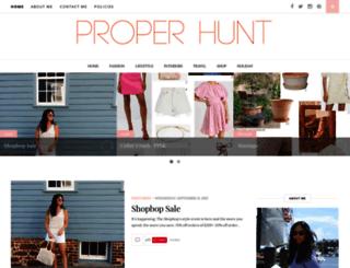 properhunt.com screenshot
