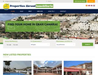 propertiesgrancanaria.com screenshot