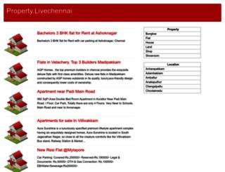 property.livechennai.com screenshot