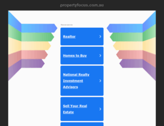 propertyfocus.com.au screenshot