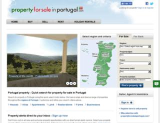 propertyforsaleinportugal.com screenshot