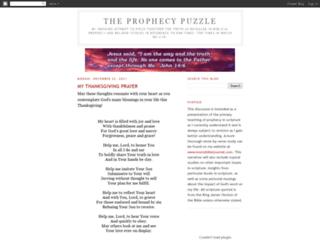 prophecypuzzle.blogspot.com screenshot