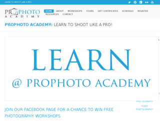prophotoacademy.ca screenshot