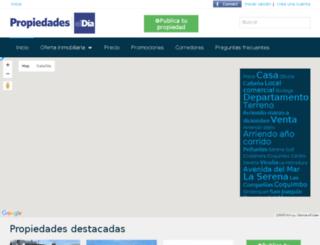 propiedadeseldia.cl screenshot