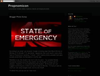 propnomicon.blogspot.com.au screenshot