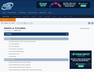 props.scoresandodds.com screenshot