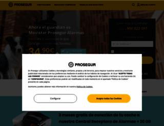 prosegur.es screenshot
