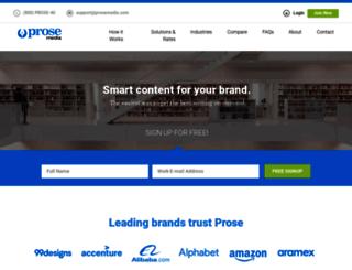 prosemedia.com screenshot