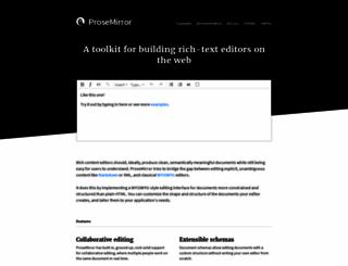 prosemirror.net screenshot