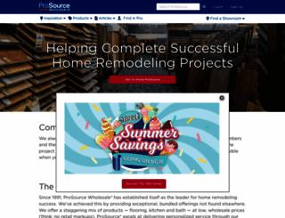 prosourcewholesale.com screenshot