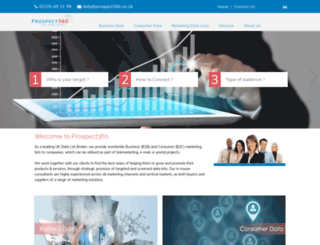 prospect360.co.uk screenshot