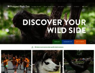 prospectparkzoo.com screenshot