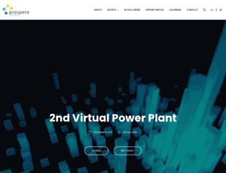 prosperoevents.com screenshot
