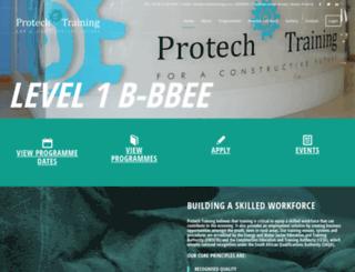 protechtraining.co.za screenshot