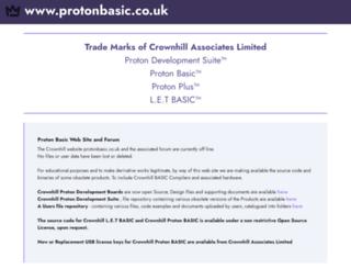 protonbasic.co.uk screenshot