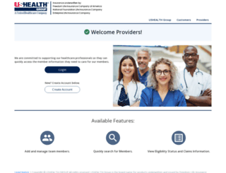 provider.ushealthgroup.com screenshot