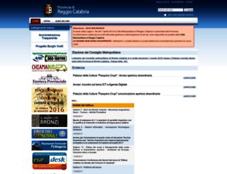 provincia.rc.it screenshot