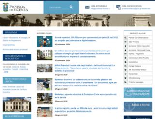 provincia.vicenza.it screenshot