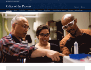 provost.georgetown.edu screenshot