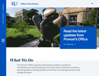 provost.ku.edu screenshot