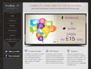 proweb45.com screenshot
