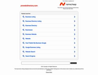 prowebdirectory.com screenshot