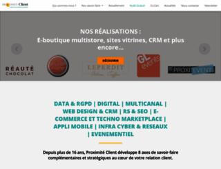 proximite-client.fr screenshot