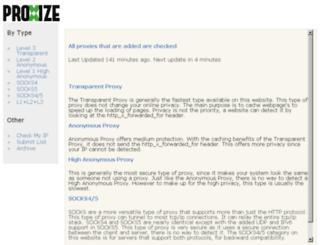 proxize.com screenshot