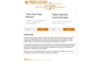 proxy-list.net screenshot
