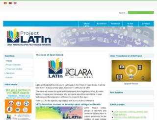 proyectolatin.org screenshot
