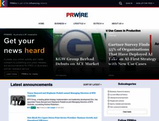 prwire.com.au screenshot
