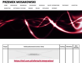 przemekmosakowski.pl screenshot