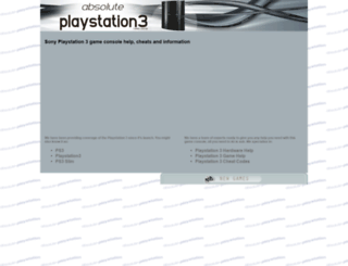 ps3.absolute-playstation.com screenshot
