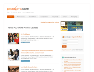 pscexams.com screenshot