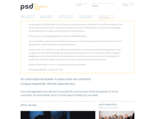 psdgroup.com screenshot