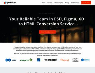 psdslicer.com screenshot