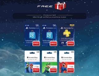 psngiftcard.com screenshot