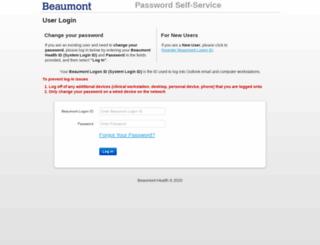 pss.beaumont.org screenshot
